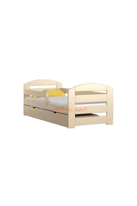 letto con cassetto letto singolo in legno di pino massello kam3 con cassetto