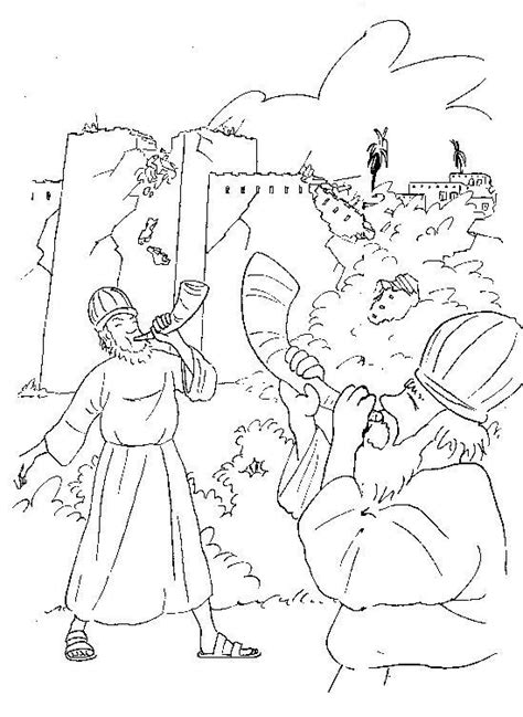 coloring pages for joshua and the battle of jericho joshua and the battle of jericho coloring page