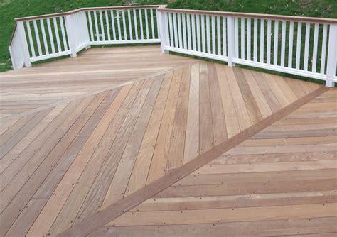 wood pattern deck sealing or oiling ipe decks ipe deck 3 bays herringbone