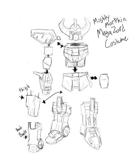 lion zord coloring pages megazord costume sketch by shadowmaginis on deviantart