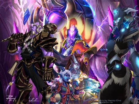 Wow Collagen warcraft draenei collage by pandaproduction on deviantart