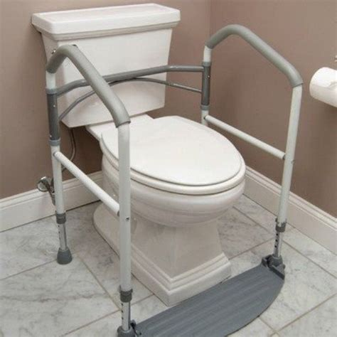 handicap bars for bathroom toilet handicap portable toilet rail folding elderly surround