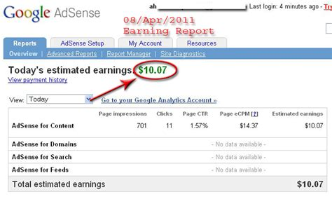 adsense payment adsense daily payment proof
