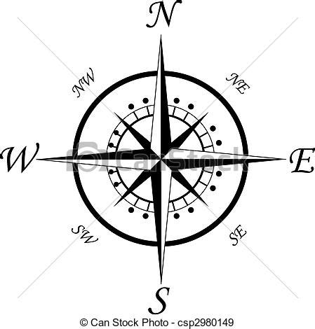 eps vectors of compass symbol isolated on white for design