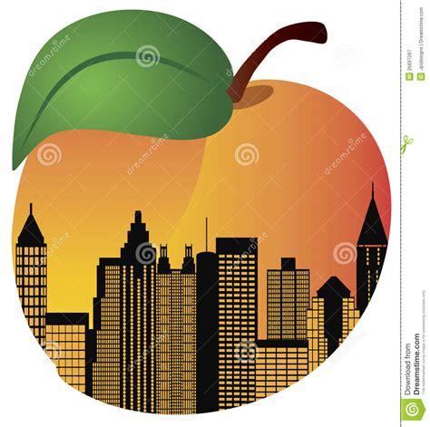 House Plans South Carolina Atlanta Georgia Night Skyline Inside Peach Royalty Free