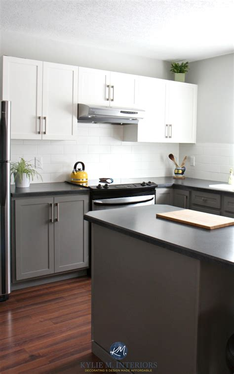 painted grey kitchen cabinets painted kitchen cabinets with white and benjamin moore