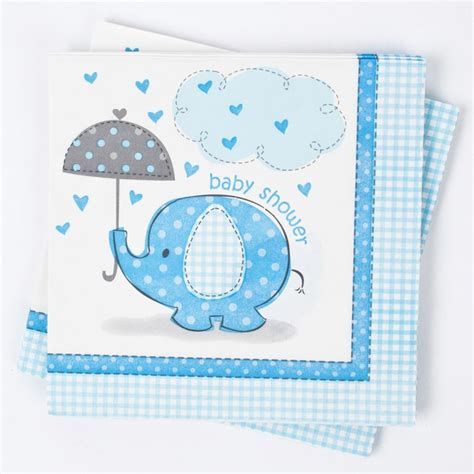 Elephant Baby Shower Plates And Napkins by Elephant Print Baby Shower Napkins Blue Gettingpersonal