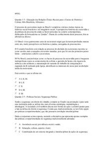 APOL 1,2,3,4 e 5 mais extras - Estudo das Relações Étnico