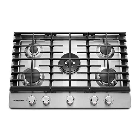 kcgs550esskitchenaid 30 quot gas cooktop stainless steel