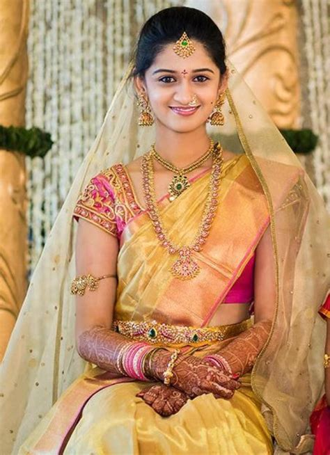 on pinterest saree blouse south indian bride and bridal sarees bridal saree and jwelery bridal sarees pinterest