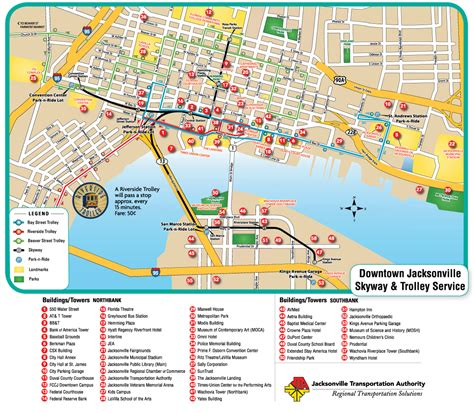 jacksonville fl map jacksonville downtown transport map mapsof net