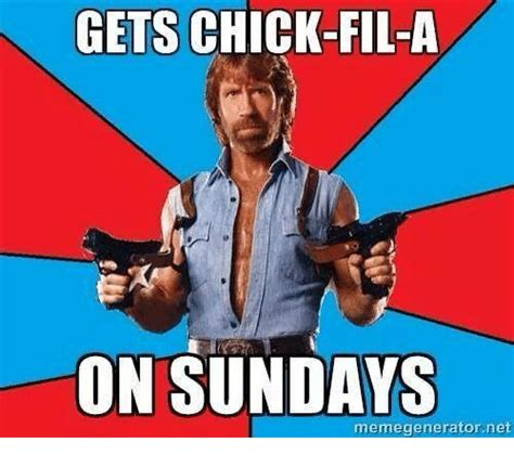 Chik Fil A Meme - gets chick fil a on sundays memegenerator net chick fil