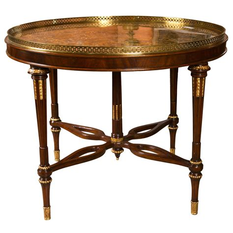 maitland smith large marble top centre table at 1stdibs