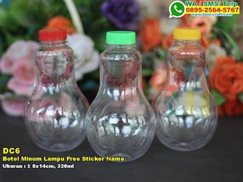 6 Pcs Gelas Plastik Warna 320ml botol minum lu free sticker nama souvenir pernikahan