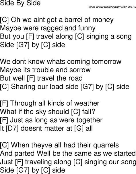 testo without me time song lyrics with chords for side by side c