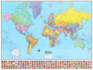 world wall map mural 36x48 hammond world wall map large mural poster new ebay