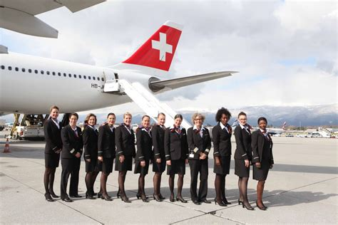 flight cabin crew international women s day swiss flies to new york with an