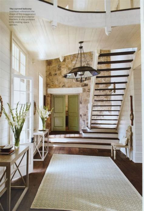 Accent Wall Staircase by Open Staircase And Stone Accent Wall The Cabin Pinterest
