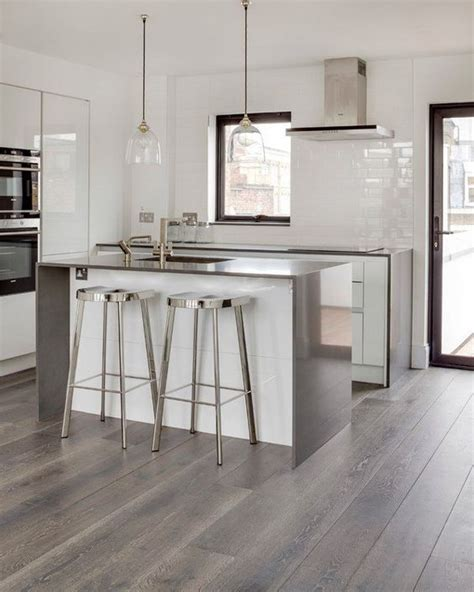 grey kitchen wood floor on pinterest gray kitchens grey grey hardwood floors ideas modern white kitchen design