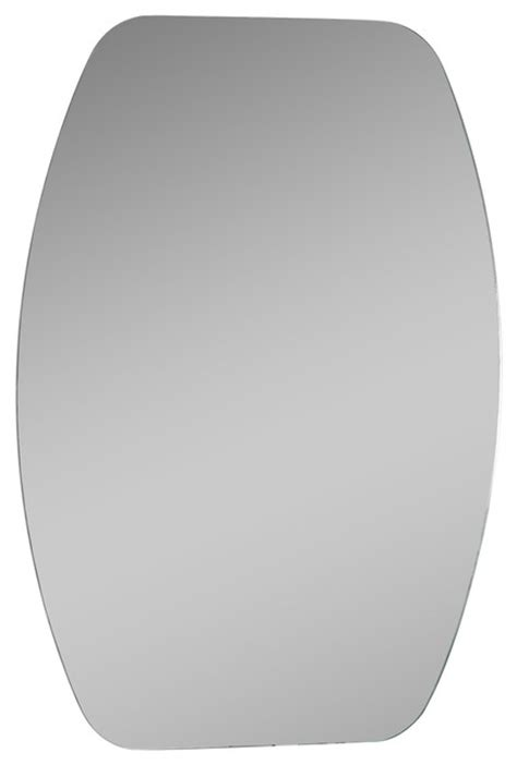 oval frameless bathroom mirror oval frameless mirror transitional bathroom mirrors