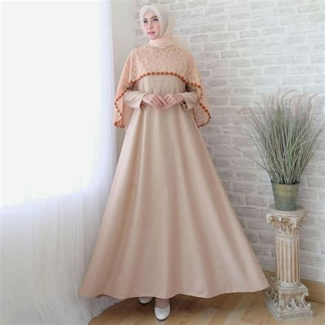 Dress Batik Levina gamis lebaran cape brokat terbaru sofia coksu baju gamis
