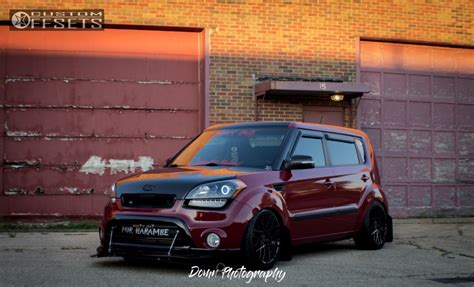 Kia Soul Stance Wheel Offset 2012 Kia Soul Tucked Coilovers