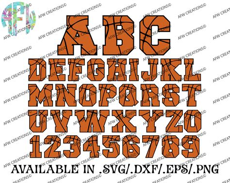 Commitment Letter For Basketball digital cut files basketball letters numbers winter svg