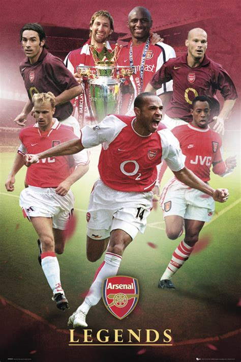Poster Football Arsenal Fa15 arsenal legends maxi poster for only 163 4 15 at merchandisingplaza uk