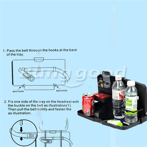 Car Multifunction Foldable Seat Back Meal Table Meja Lipat Mobil car multifunction tray folding back seat table drink food cup holder alex nld