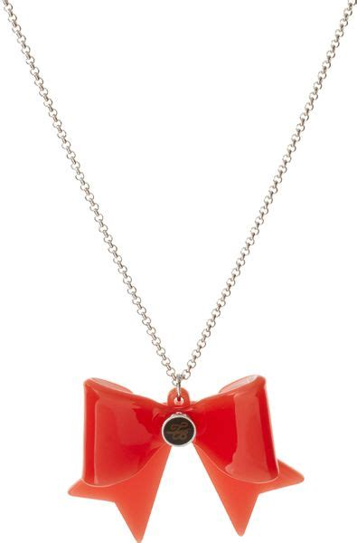 Ted Baker Necklace Bow Top by Ted Baker Bow Necklace In Orange Lyst