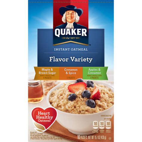 Instant Cereal Flavour quaker flavor variety instant oatmeal 10 count 15 1 oz walmart