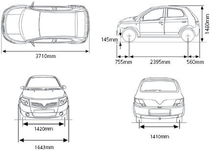 car dimensions in car brigade vs el bastardos