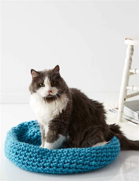 yarn kitty pattern cat nap nest quick and easy crochet bed for your