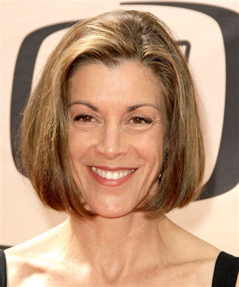 wendy malicks new haircut wendie malick medium straight formal hairstyle