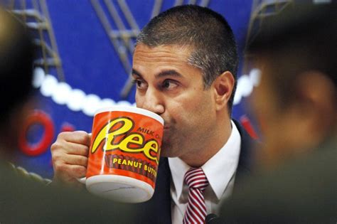 ajit pai mug fcc chairman drinks from ridiculously oversized mug as he