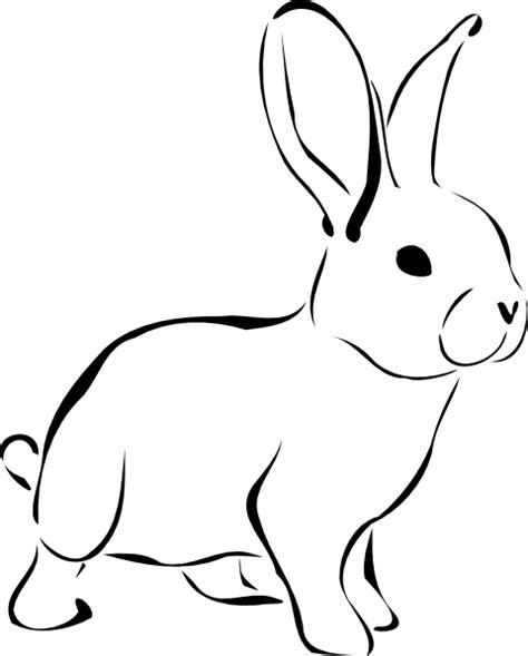 White Rabbit Clipart white rabbit clip at clker vector clip