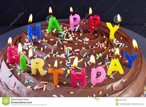 candele torta candele della torta di buon compleanno immagine stock