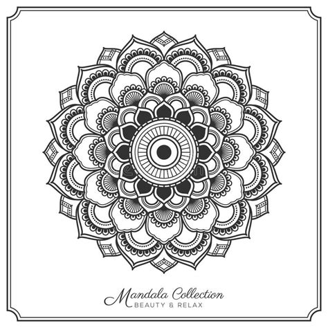 mandala tattoo design template vector illustratie