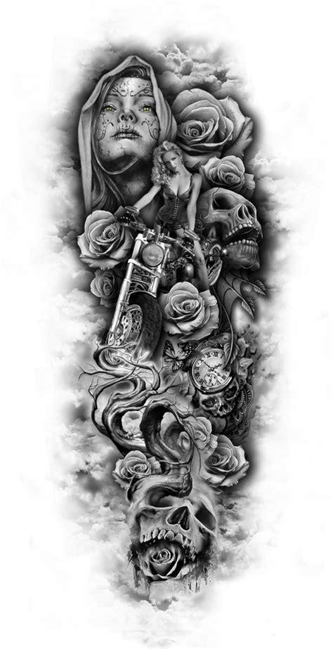Full Sleeve Tattoo Designs Drawings Deviantart More Like Black And White Sleeve Tattoos Drawings