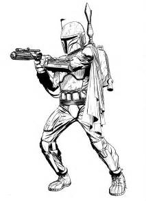 boba fett coloring pages the of lone lineart gt color