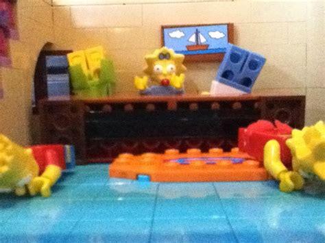 lego simpsons couch lego simpsons couch gag 5 couch tip youtube