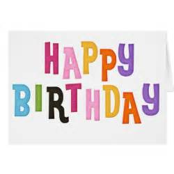 happy birthday colorful words greeting card zazzle