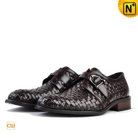 Handmade Dress Shoes - italian leather monk dress shoes cw764107