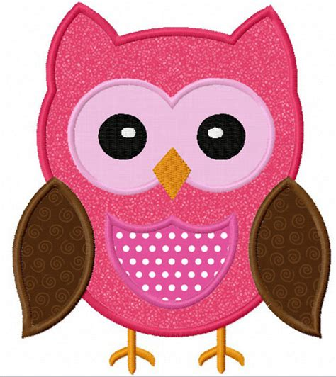 free applique design instant owl applique machine embroidery design