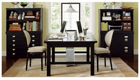 his and hers home office design ideas home office double green by pottery barn lilia flickr