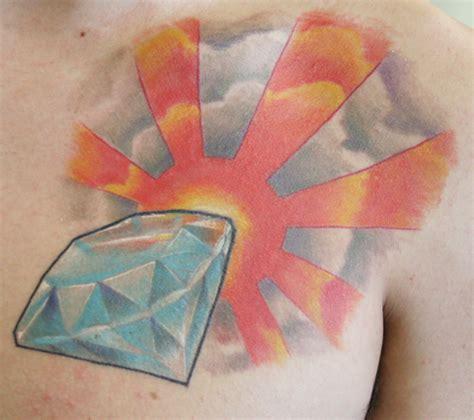 diamond tattoo with banner fashion female and have fun diamond tattoo designs