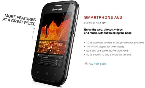 Touchscreen Lenovo A60 Layar Sentuh Lenovo A60 lenovo launches 5 android smartphones in india prices starting at rs 6 499