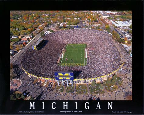 michigan big house michigan wolverines the big house football stadium poster