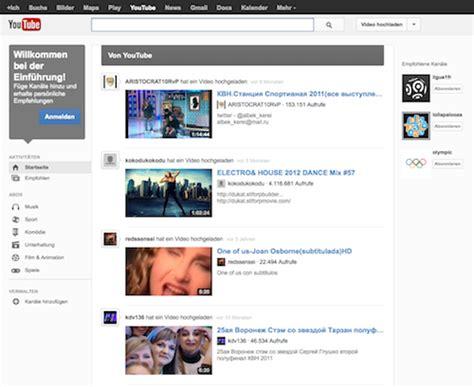 google layout youtube google zeigt neues youtube design jetzt testen