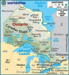 canada map ontario cities ontario facts on largest cities populations symbols
